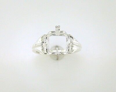 Square Regalle Solitaire Ring Setting Sterling Silver