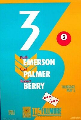 Emerson & Palmer 1988 Concert Poster