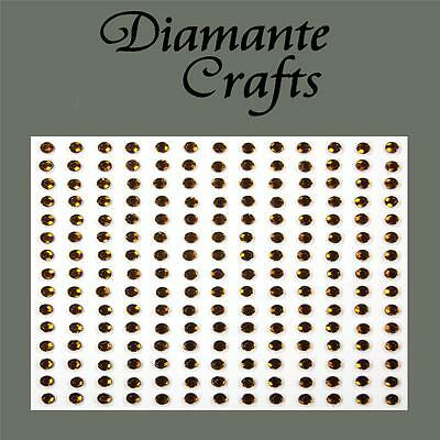 4mm or 96x 6mm or 56x 8mm Self Adhesive Diamante Rhinestone Gems 3mm 195 x 2mm