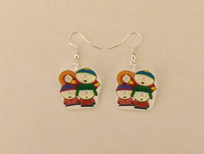 South Park Earrings - Cartman, Stan, Kyle, Kenny