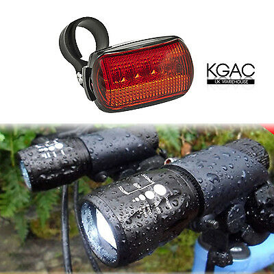 2X CREE Q5 LED Mountain Bike Bicycle Cycling Zoomable Torch Front + Rear Lights