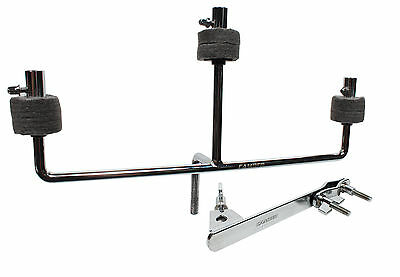 Camber Triple Cymbal Holder with Mounting Bracket, Chrome