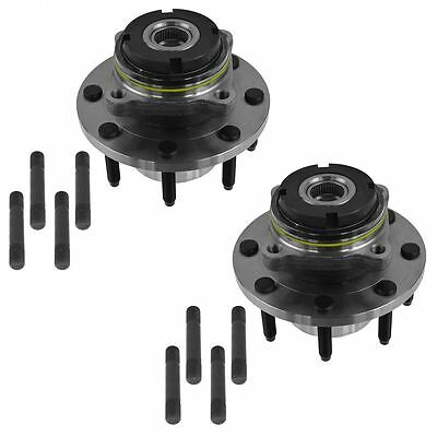 Front Wheel Hub & Bearing Pair Set for 99-04 Ford Super Duty Pickup 4WD 4x4