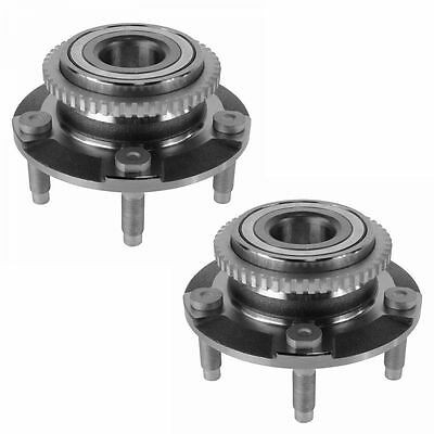 Front Wheel Hubs & Bearings Pair Set of 2 NEW for 94-04 Ford Mustang 5 Lug