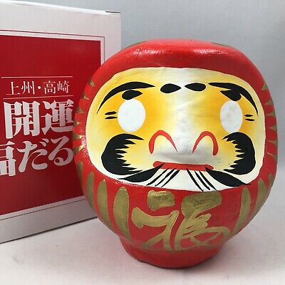 "Japanese 4.5""H Classical Red Daruma Doll for Luck & Good Fortune Made in Japan"