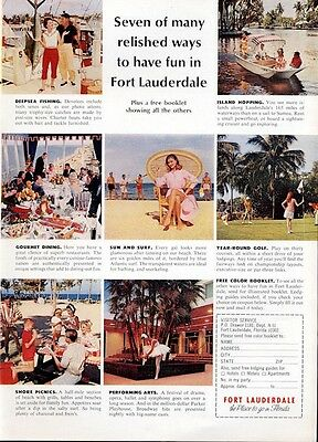 1969 Fort Lauderdale Florida Various things to do Shown PRINT AD