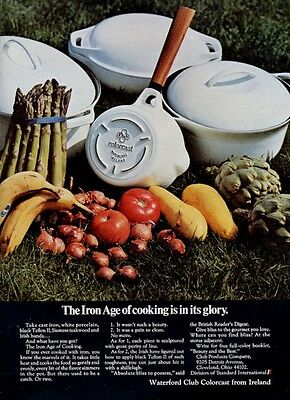 1969 Waterford Colorcast Cast Iron Pots and Pans PRINT AD