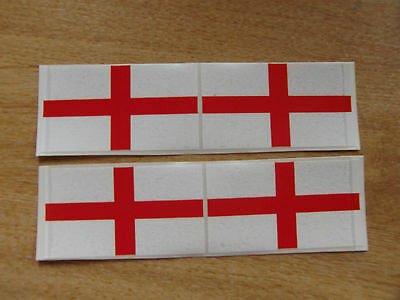 4x stickers 90mm x 50mm decals ENGLISH FLAG / GEORGE CROSS