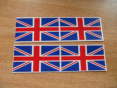 4x stickers 90mm x 50mm decals UK FLAG / UNION JACK