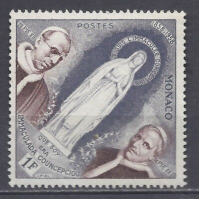 Monaco Stamps 1958 apparition of Maria in Lourdes MNH see image