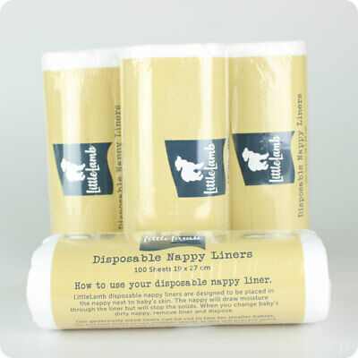 Pack of 4 Little Lamb Paper Nappy Liners  | Disposable Nappy Liners