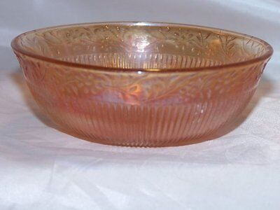 Vintage Marigold Carnival Glass Bowl, Daisy Chain Pattern