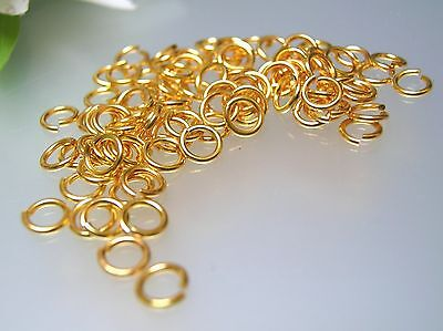 Top Quality USA made 100-500 pcs brass gold plated 5.5mm open jump ring Gauge 19