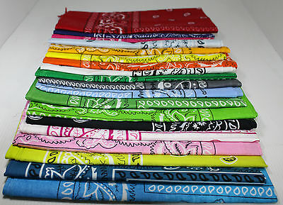 Bandana /Headwrap /Kerchief /Wristband  Paisley Double-Sided  Cotton Many Colors