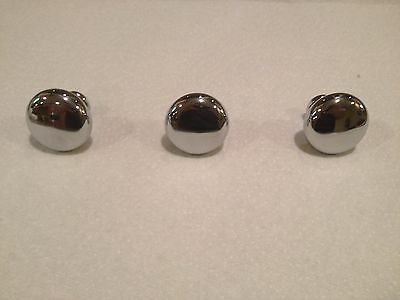 Lot of 3 Chrome Drawer / Cabinet Pulls / Knobs