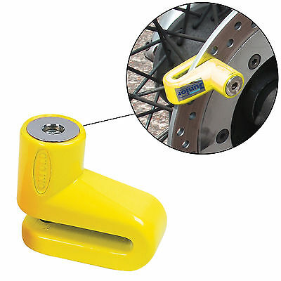 Oxford OF34 Junior Motorcycle Scooter Security Brake Disc Lock Yellow