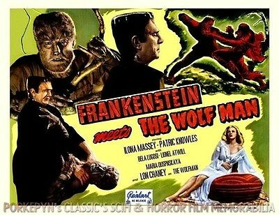 FRANKENSTEIN Meets The WOLF MAN ~ 10x8 Title Lobby Card