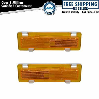 Side Marker Signal Corner Parking Light Pair Set for Camaro Firebird Trans Am
