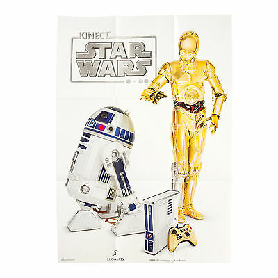 Limited Edition Star Wars Microsoft Kinect R2D2 Xbox 360 Collectible Poster