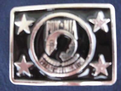 Patriotic Pow Mia You Are Not Forgotten Usa Metal Belt Buckle #151