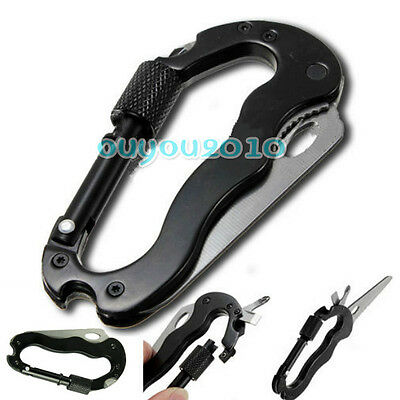 Multi tool Carabiners with Kitchenwar+Screw Driver+Bottle Opener for Mountain