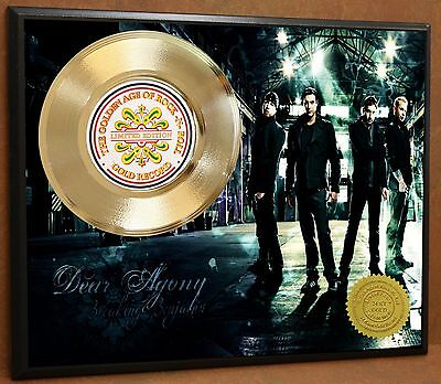 Breaking Benjamin LTD Poster Art Gold Record Music Memorabilia Display Free Ship