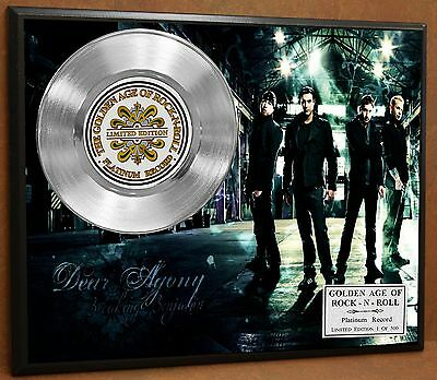 Breaking Benjamin Limited Poster Art Platinum Record Music Memorabilia Free Ship