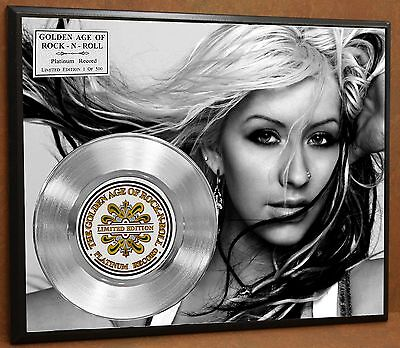 Christina Aguilera LTD Poster Art Platinum Record Music Memorabilia Free Ship