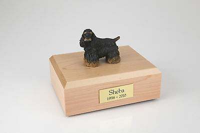 Cocker Spaniel Pet Funeral Cremation Urn Avail in 3 Diff Colors & 4 Sizes