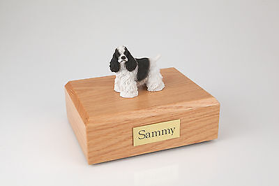 Cocker Spaniel Pet Funeral Cremation Urn Avail in 3 Different Colors & 4 Sizes