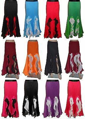 Bauchtanz Rock Belly Dance Skirt Flamenco Rock Tribal Tanzrock Orientalisch