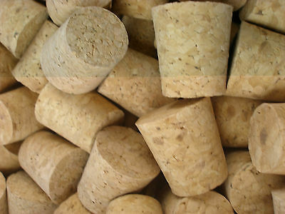 2 x Tapered Cork Bung Stopper Bottle size 19