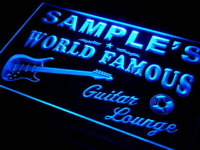 pf-tm Name Personalized Custom Guitar Band Room Bar Beer Neon Sign