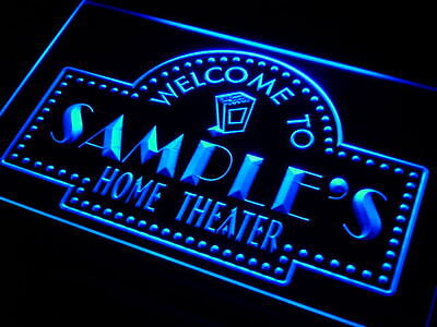 ph-tm Name Personalized Custom Home Theater Bar Neon Sign