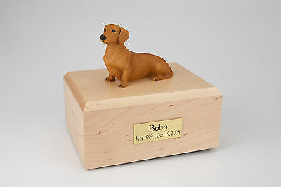 Brown Dachshund Pet Funeral Cremation Urn Avail in 3 Different Colors & 4 Sizes
