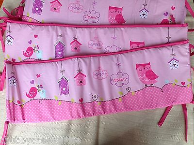 Baby Crib Cot Bassinette Bumper Pad Padded & Quilted Full Surround