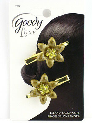 Goody Luxe Lenora Salon Hair Clip - 2 Pcs. - Gold  (72021)