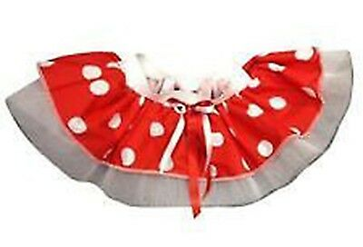 Minnie Mouse Tutu Skirt Red White Polka Dot 80s Fancy Dress Hen Party Book Week