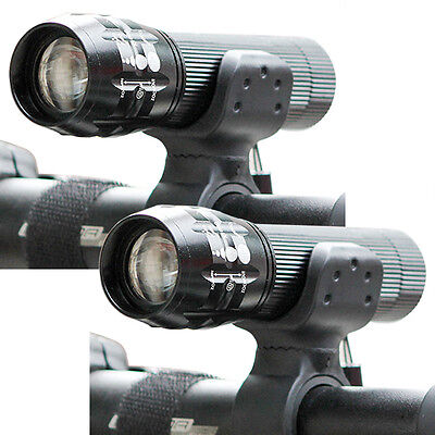 2x 1000LM CREE XML T6 LED 18650 Flashlight Torch Lamp Zoomable Bike Front light