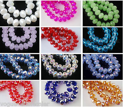 150pcs Glass Crystal Faceted Diy Loose Finding Spacer Beads 3X2mm 60 Color Upick