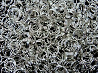 14mm Silver Plated Split Rings Jewellery Craft Findings Beading PICK QUANTITY ML