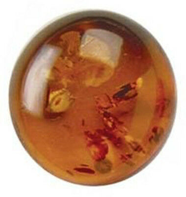 Round Cabochon Natural (Genuine) Rich Golden Baltic Amber  (4-16mm)
