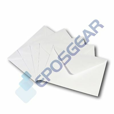 100 C6 Quality White Diamond Flap Gummed Greeting Card Envelopes 162mm x 114mm
