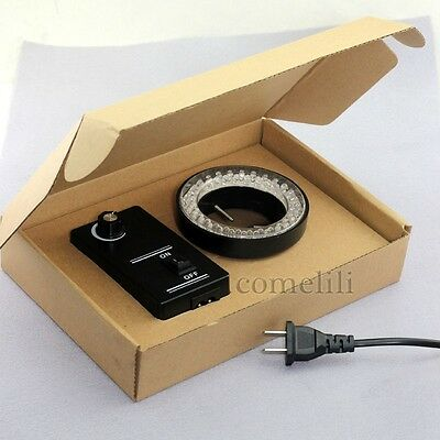 Adjustable 60-LED Ring Light illuminator Lamp For STEREO ZOOM Microscope adapter