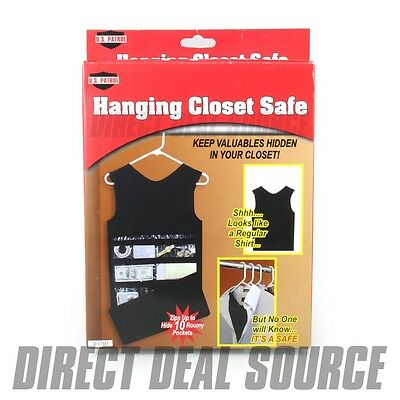 Hanging Closet Tank Top Dress Diversion Safe   HIDE JEWELRY MONEY CASH  VALUABLES