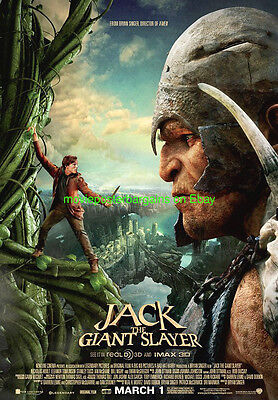 JACK THE GIANT SLAYER MOVIE POSTER ORIGINAL DS 27x40 FINAL VERSION NEW !