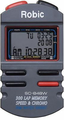 Robic 300 Dual Memory Speed And Chrono Stopwatch P/n Sc-848W Racing Joes Rjs
