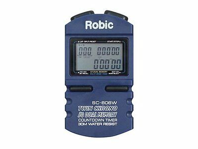 Robic 50 Lap Memory Chronograph And Countdown Timer P/n Sc-606W Racing Joes Rjs