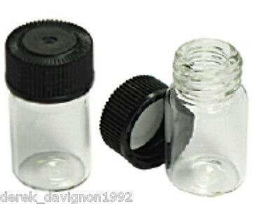 """(10)  Mini 1"""" Glass Vial Bottle For Your Gold Pan Gold!"""