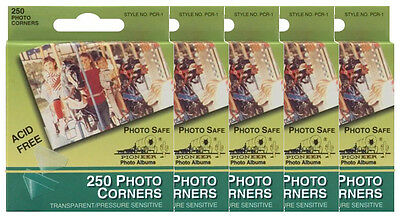 BULK 5 of Pioneer Photo Corners Clear Self-Adhesive 250/box